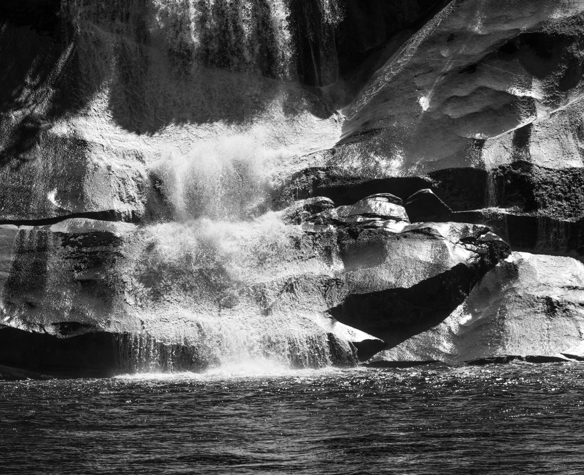 Black & White Waterfall
